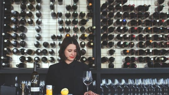 Woman in wine store